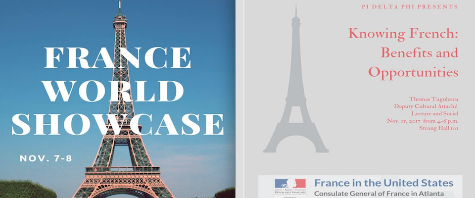 Pi Delta Phi, the French Honor Society, Hosts France World Showcase