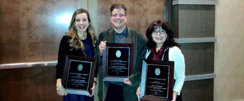 Three MFLL Faculty Receive 2016 College of A & S Awards!