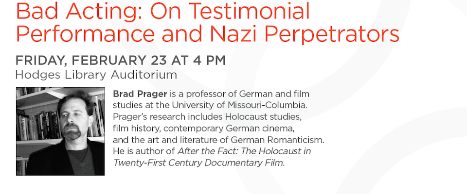 Visiting Scholar to Lecture on Holocaust
