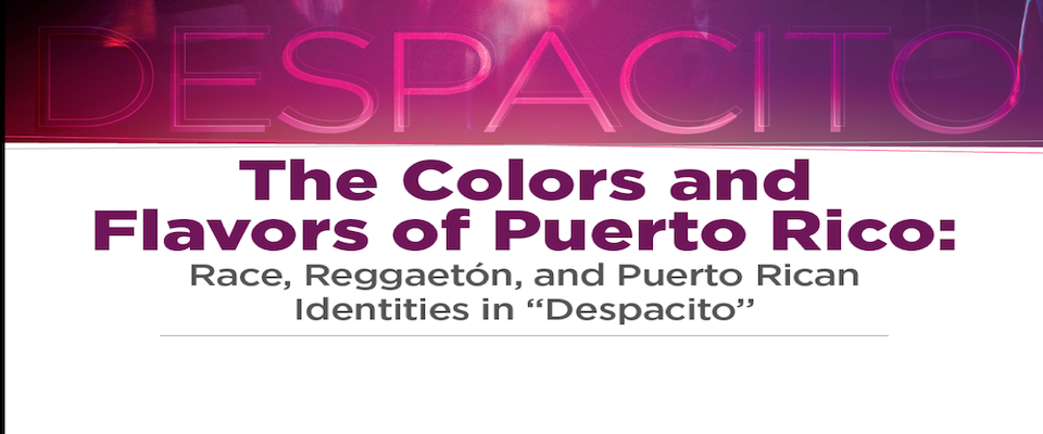 Lecture on Puerto Rican Popular Culture: Wednesday, March 28, 2018, 5pm Hodges Library Auditorium